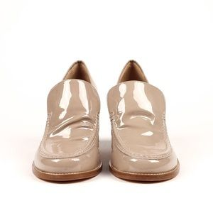 Maryam nassir zadeh Norah loafer in sand patent.